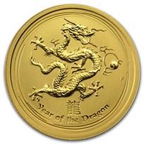 2012 Australia 1/4 oz Gold Lunar Dragon BU (Series II)