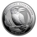 2012 Australia 1 kilo Silver Kookaburra BU