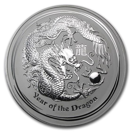 2012 Australia 1 kilo Silver Year of the Dragon BU