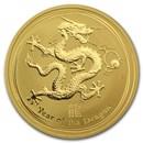 2012 Australia 1 oz Gold Lunar Dragon BU (Series II)