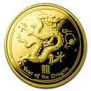 2012 Australia 1 oz Gold Lunar Dragon Proof (SII, Capsule Only)