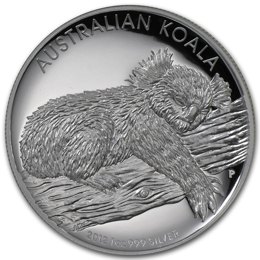 2012 Australia 1 oz Silver High Relief Koala Proof (w/Box & COA)