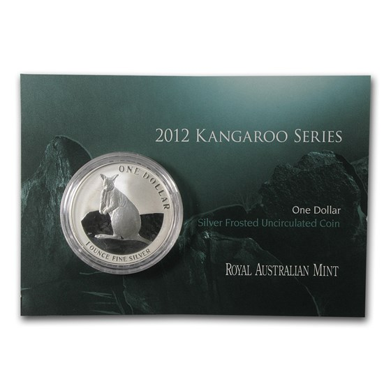 2012 Australia 1 oz Silver Kangaroo (In Display Card)