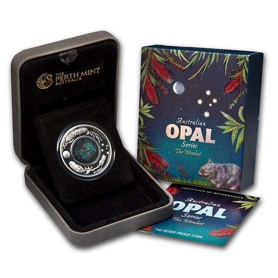 2012 Australia 1 oz Silver Opal Wombat Proof