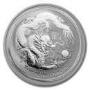 2012 Australia 1 oz Silver Year of the Dragon BU (Series II)
