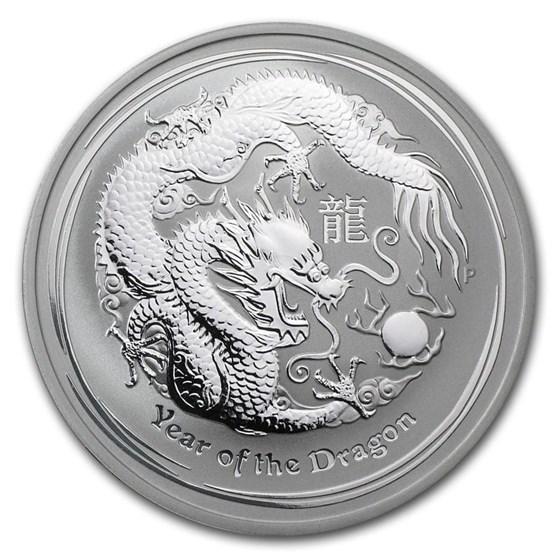 2012 Australia 1 oz Silver Year of the Dragon BU (Series II)