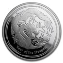 2012 Australia 1 oz Silver Year of the Dragon Proof