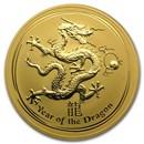 2012 Australia 10 oz Gold Lunar Dragon BU (Series II)