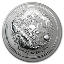 2012 Australia 10 oz Silver Year of the Dragon BU
