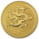 2012 Australia 2 oz Gold Lunar Dragon BU (Series II)