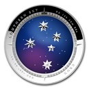 2012 Australia Silver $5 Color Domed Crux Southern Sky Proof