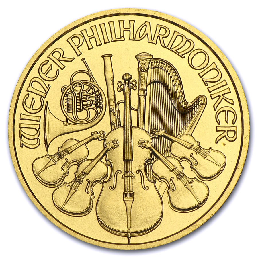 2012 Austria 1/10 oz Gold Philharmonic BU