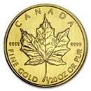 2012 Canada 1/20 oz Gold Maple Leaf BU