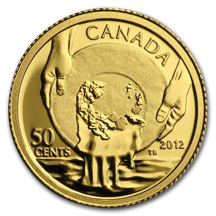 2012 Canada 1/25 oz Proof Gold $0.50 Cariboo Gold Rush