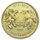 2012 Canada 1/4 oz Gold $10 War of 1812 BU