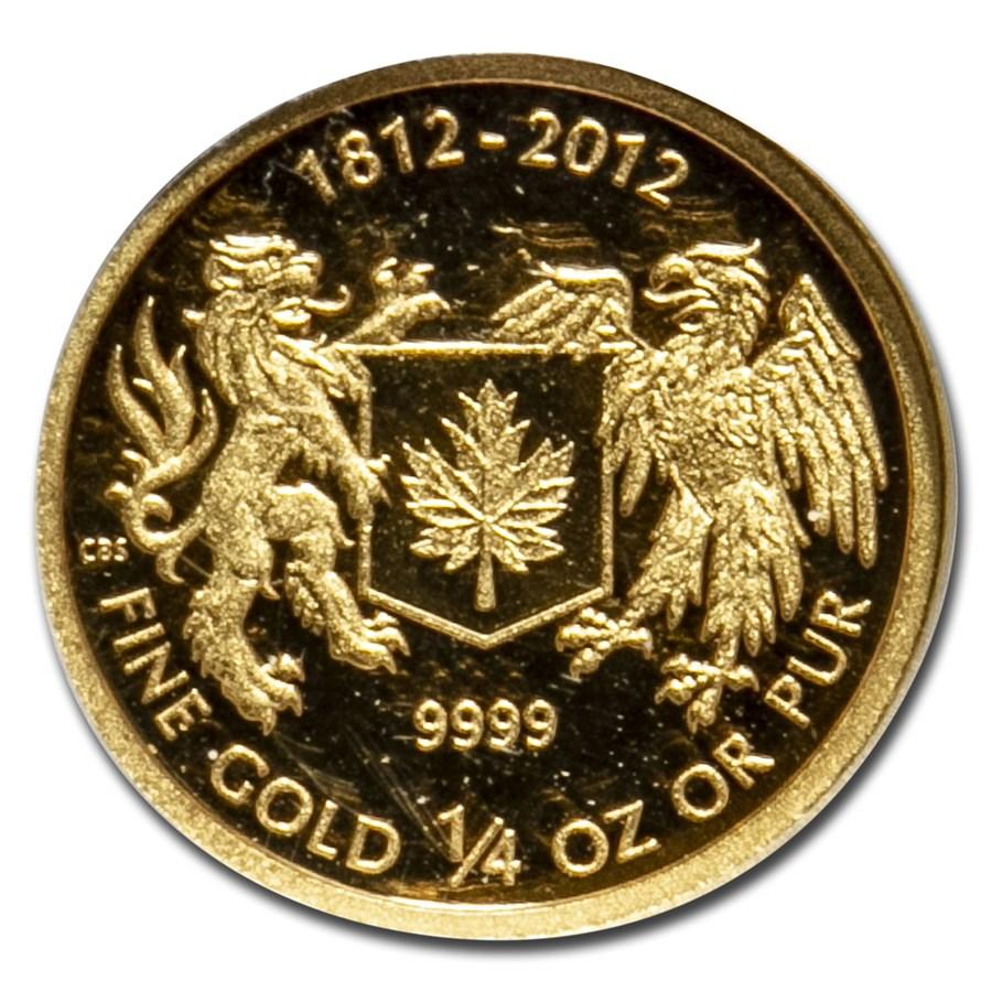 2012 Canada 1/4 oz Gold $10 War of 1812 Proof (Box & COA)