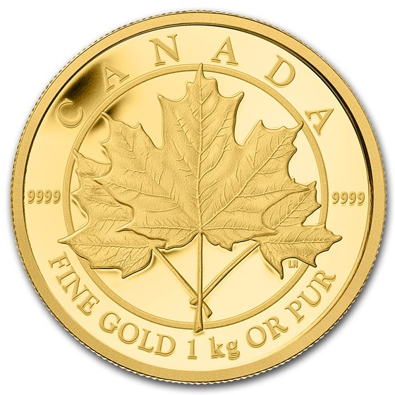 2012 Canada 1 kilo Proof Gold $2,500 Maple Leaf Forever