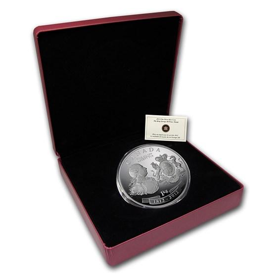 2012 Canada 1 kilo Silver $250 War of 1812 King George