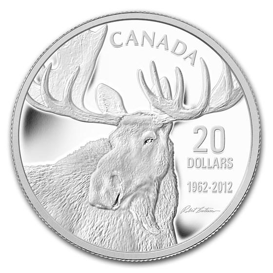 2012 Canada 1 oz Silver $20 Robert Bateman's Moose