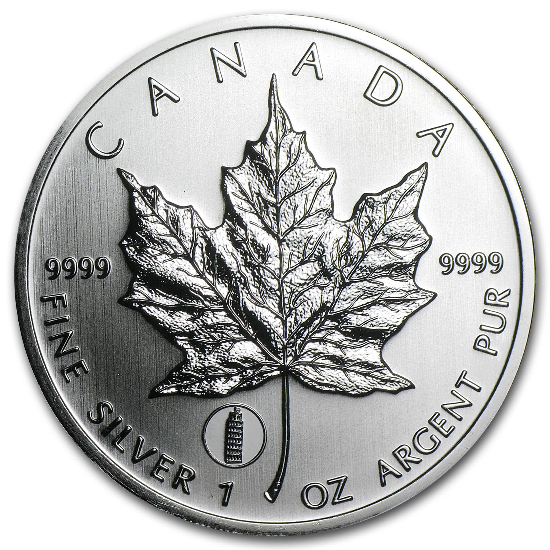 CANADA 2012 1oz Silver Maple Leaf Dragon Privy from Mint Tube