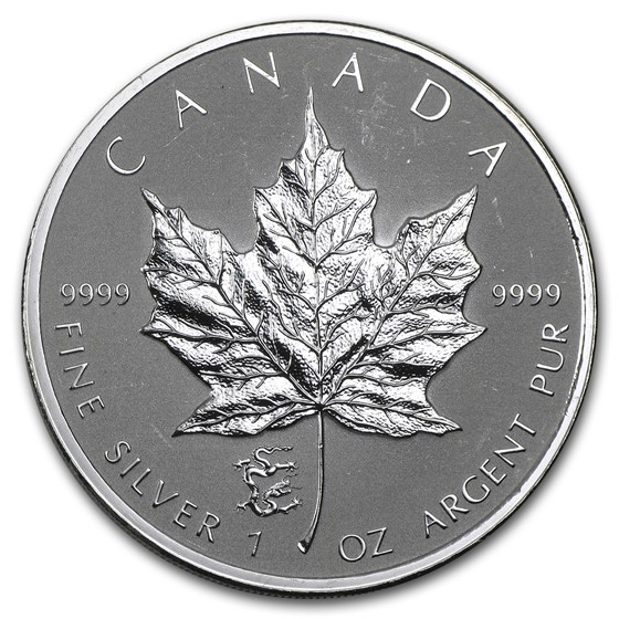 2012 Canada 1 oz Silver Maple Leaf Lunar Dragon Privy