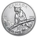 2012 Canada 1 oz Silver Wildlife Series Cougar