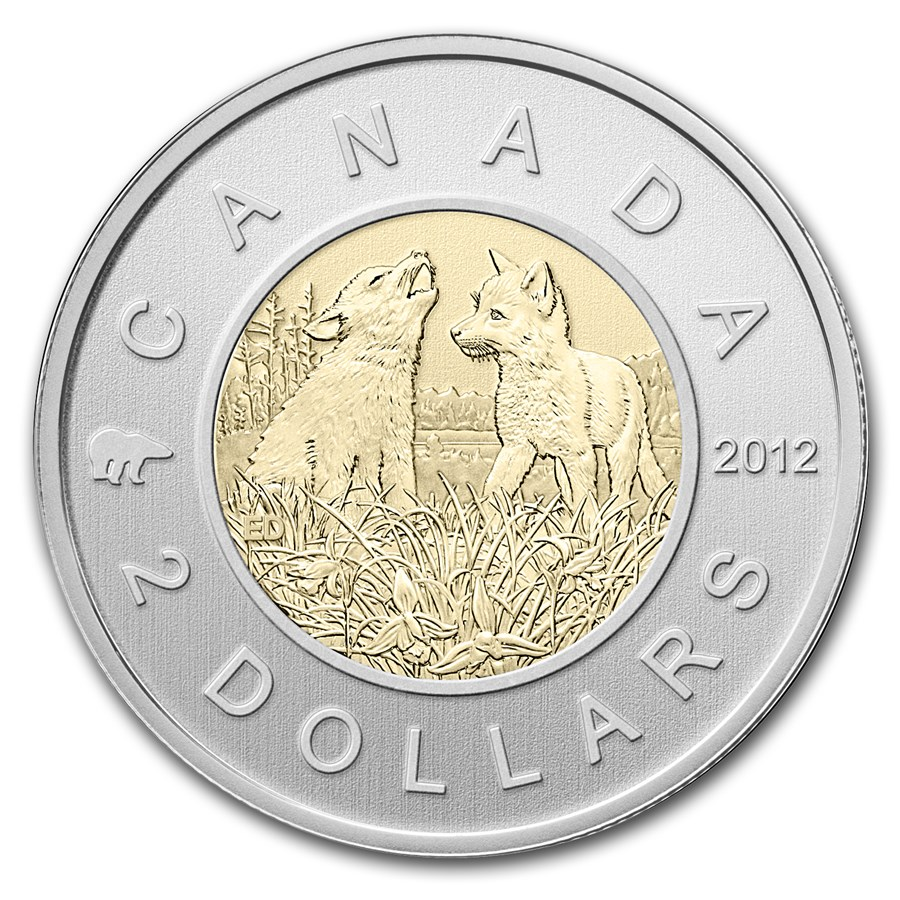 2012 Canada 7-Coin Wolf Cubs Special Edition Specimen Set