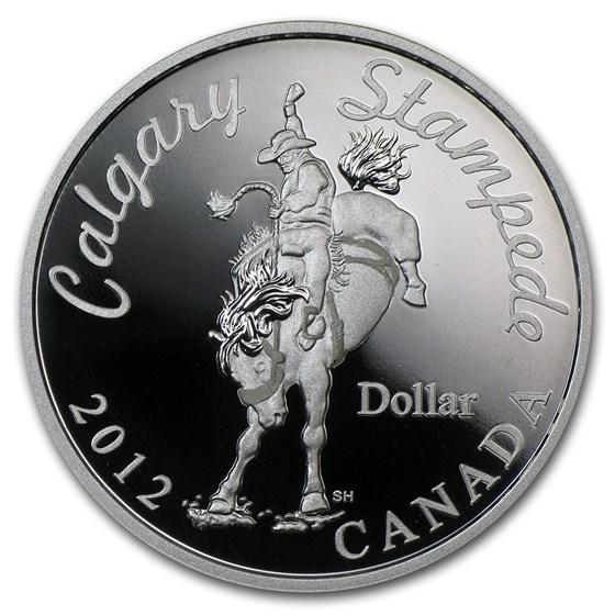 2012 Canada Silver $1 Calgary Stampede Bucking Bronco