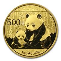 2012 China 1 oz Gold Panda BU (Sealed)