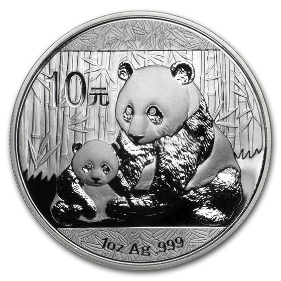 2012 China 1 oz Silver Panda BU (In Capsule)