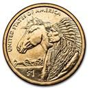 2012-D Native Amer $1 - 17th Century Trade Routes BU