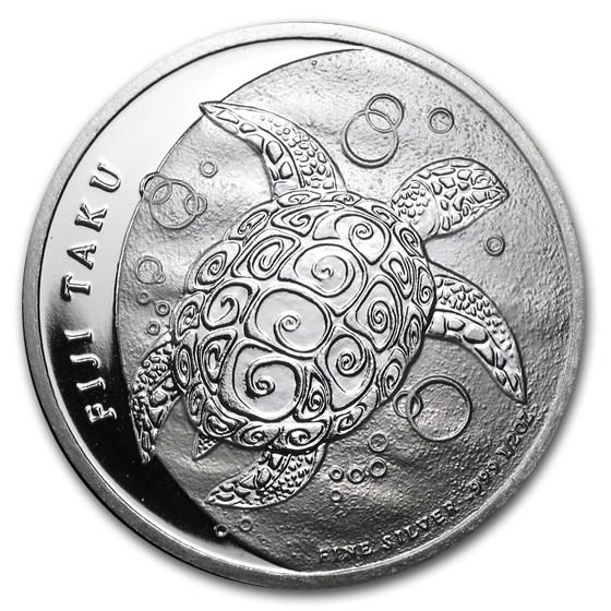 2012 Fiji 1/2 oz Silver $1 Taku BU