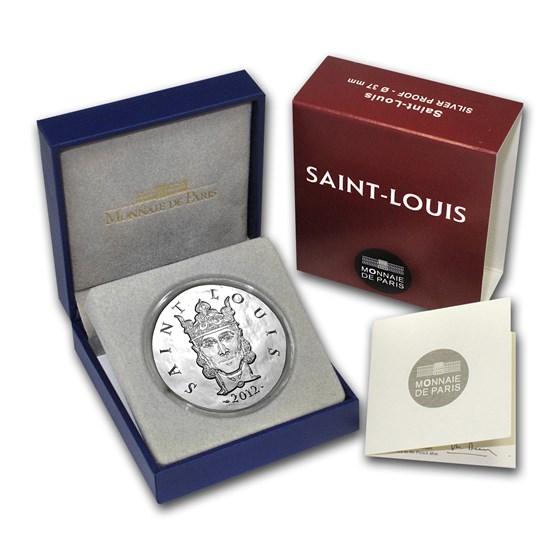 2012 France Silver €10 Legendary Collection Proof (Saint-Louis)