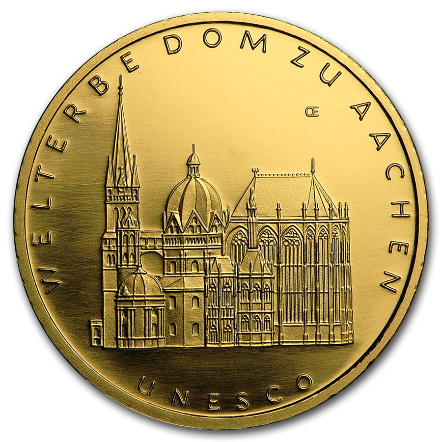 2012 Germany 1/2 oz Gold 100 Euro Aachen Cathedral BU