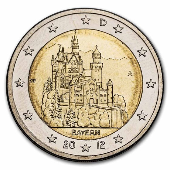 2012 Germany 2 Euro Bavaria BU