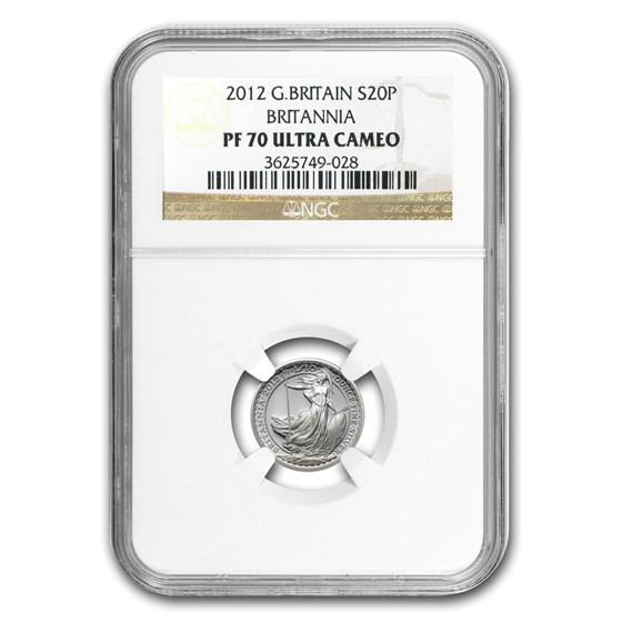 2012 Great Britain 1/10 oz Silver Britannia PF-70 NGC