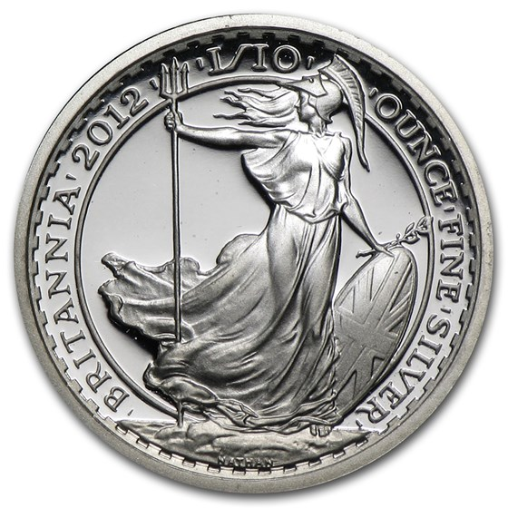 2012 Great Britain 1/10 oz Silver Britannia Proof