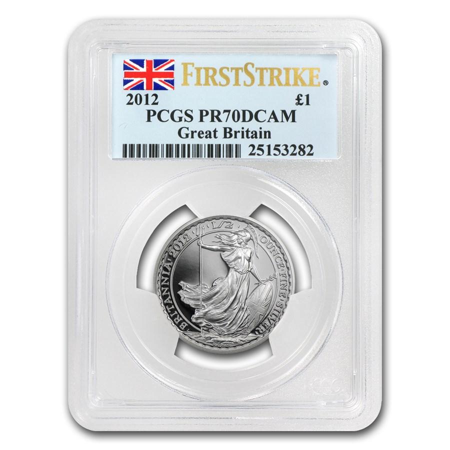 2012 Great Britain 1/2 oz Silver Britannia PR-70 PCGS (FS)