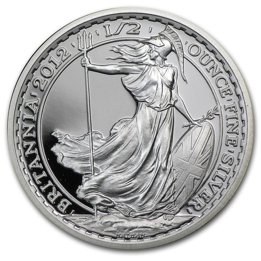 2012 Great Britain 1/2 oz Silver Britannia Proof