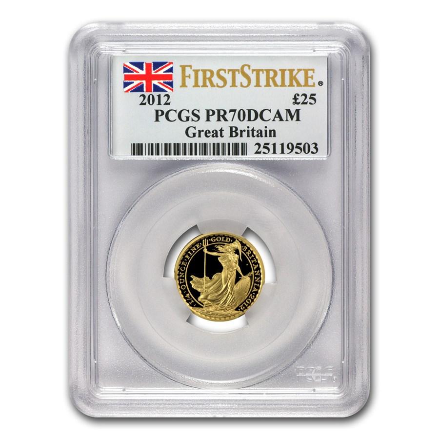 2012 Great Britain 1/4 oz Proof Gold Britannia PR-70 PCGS (FS)