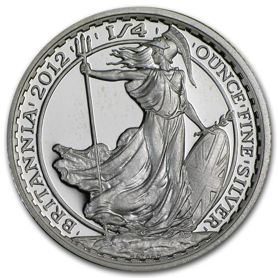 2012 Great Britain 1/4 oz Silver Britannia Proof