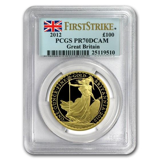 2012 Great Britain 1 oz Gold Britannia Coin PR-70 PCGS (FS)