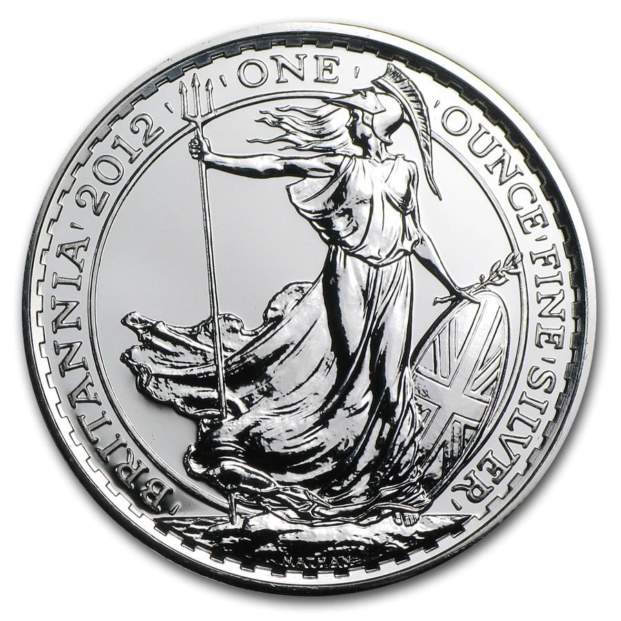 2012 Great Britain 1 oz Silver Britannia BU