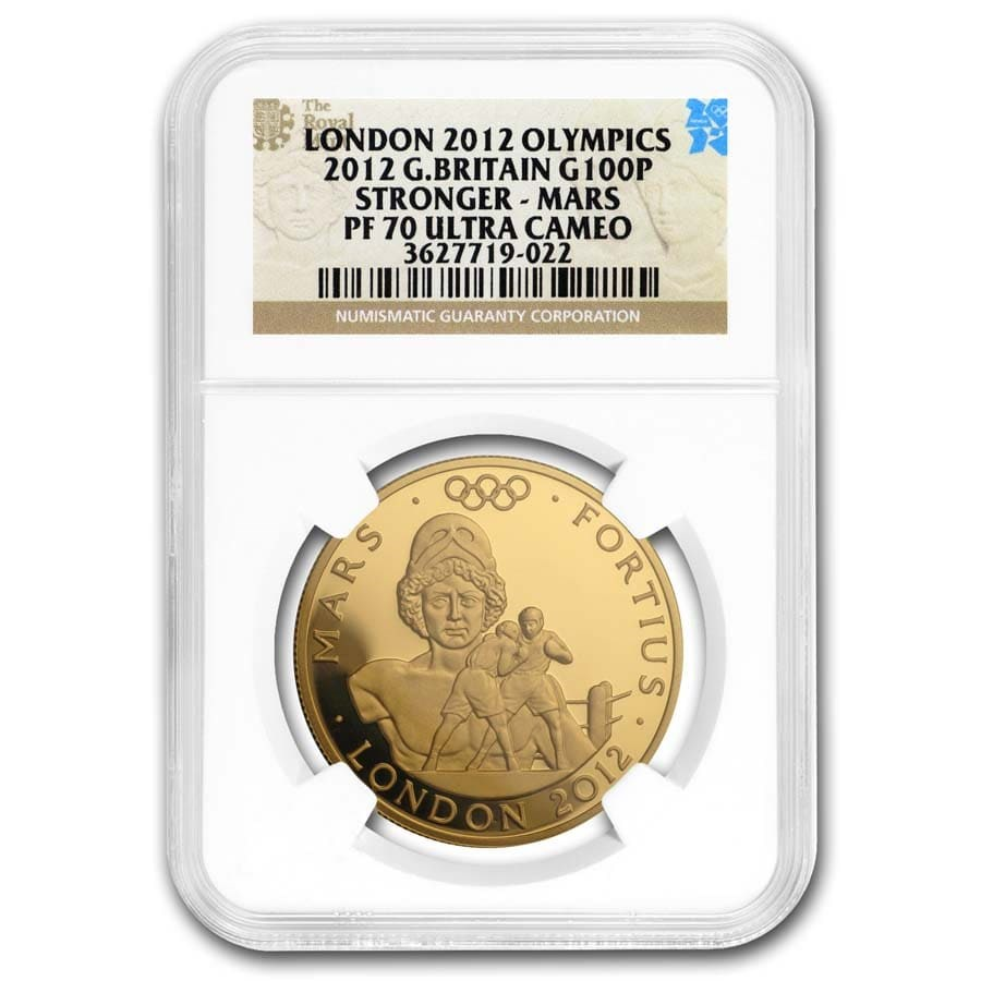 2012 Great Britain Gold £100 Stronger-Mars PF-70 NGC