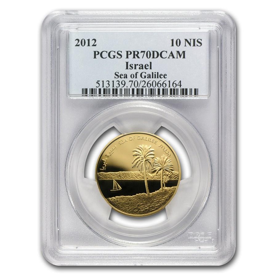 2012 Israel 1/2 oz Gold Sea of Galilee PR-70 PCGS