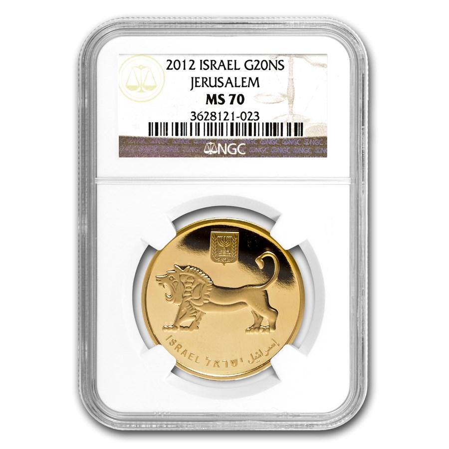 2012 Israel 1 oz Gold Menorah MS-70 NGC