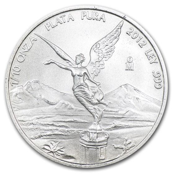 2012 Mexico 1/10 oz Silver Libertad BU