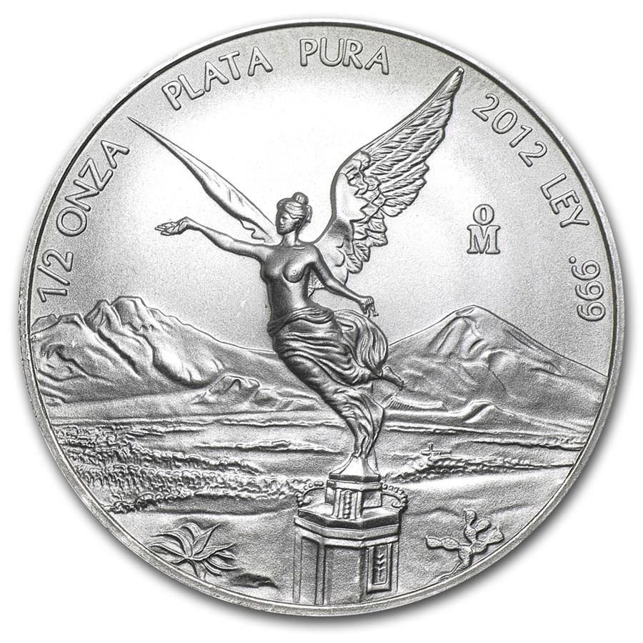 2012 Mexico 1/2 oz Silver Libertad BU