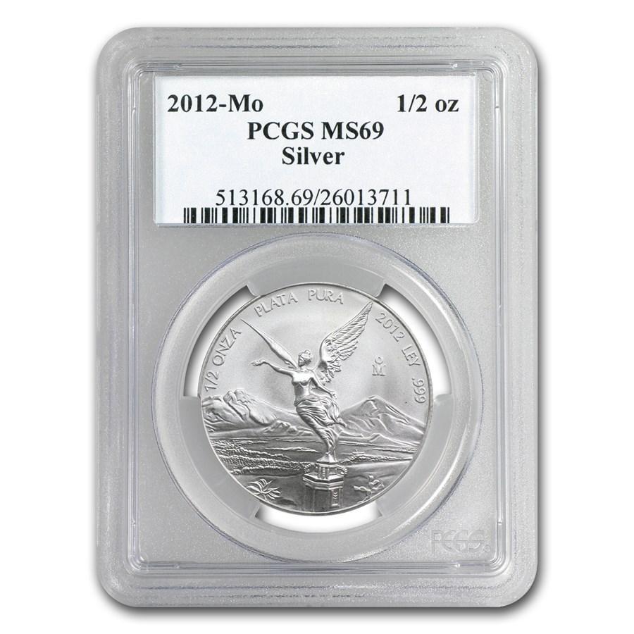 2012 Mexico 1/2 oz Silver Libertad MS-69 PCGS