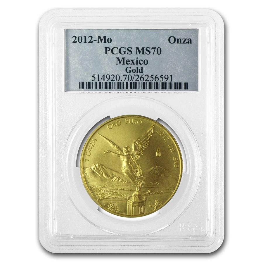 2012 Mexico 1 oz Gold Libertad MS-70 PCGS